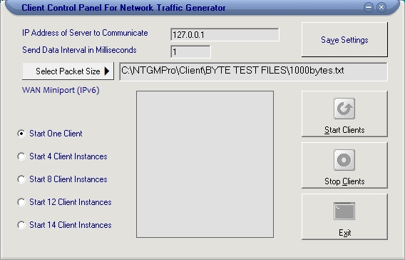 Network Traffic Generator and Monitor full screenshot
